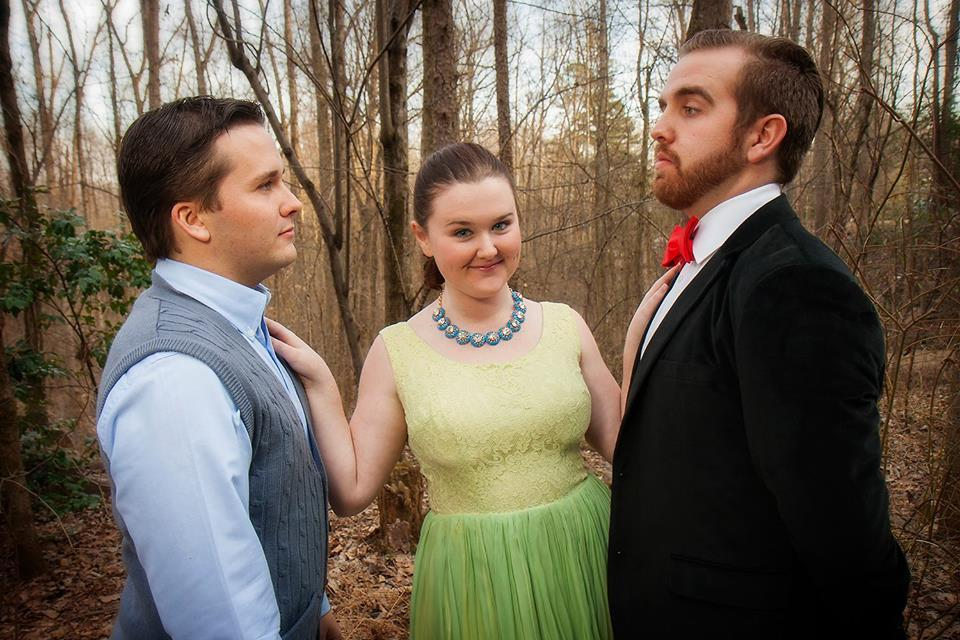 From Left: Matthew Ensley, Ashley O'Donnell, and Pen Chase in character for The Fantastics